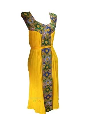 አጭር የሀበሻ ቀሚስ  Ethiopian Traditional Short Dress