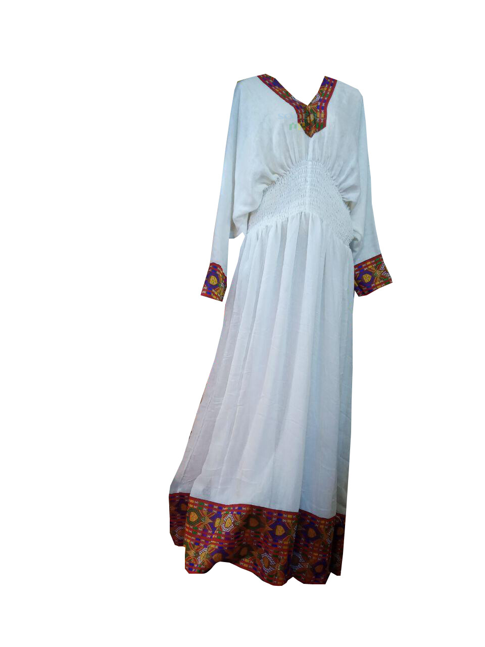 ረዘም ያለ የሀበሻ ልብስ  Ethiopian Traditional Long Dress