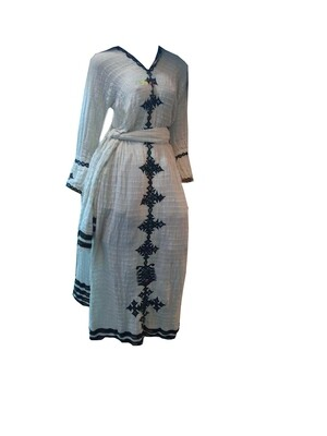 ረዘም ያለ የሀበሻ ልብስ  Ethiopian Traditional Long Dress
