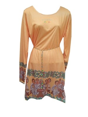 ባህላዊ ስእሎች ያለበት የሴቶች ልብስ/Traditional Painting Girls Cloth