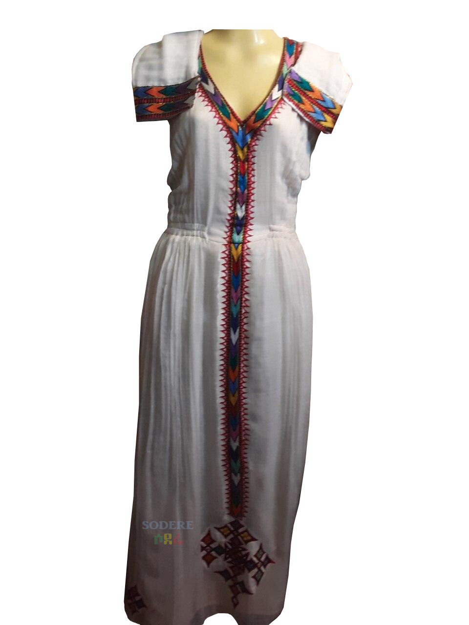 ረዘም ያለ የሀበሻ ቀሚስ  Ethiopian Traditional Long Dress