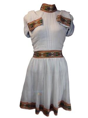 የሀበሻ ቀሚስ  Ethiopian Traditional Short Dress