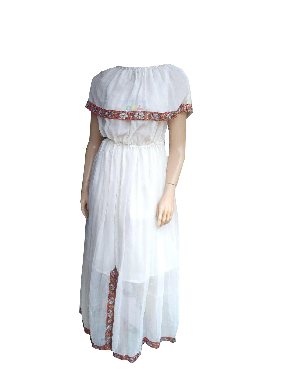 ረዘም ያለ የሀበሻ ልብስ  Ethiopian Traditional Long Dress / free size