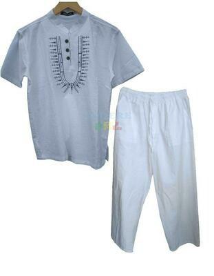 ባህላዊ የወንዶች አላባሽ እና ሱሪ Traditional Boys T-shirt And Trousers