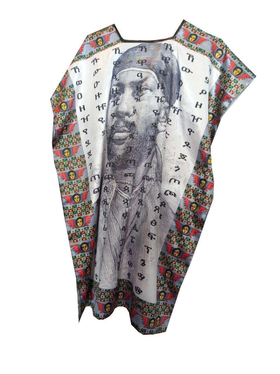 የሚኒሊክ ምስል ያለበት የሴቶች አላባሽ Minilik fidel t-shirt for women