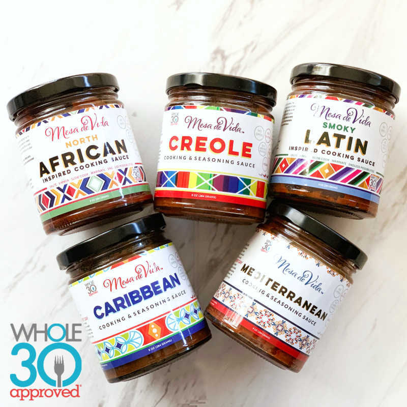 Mesa de Vida Global Gourmet Variety Bundle | Whole30 Approved Cooking Sauce 5