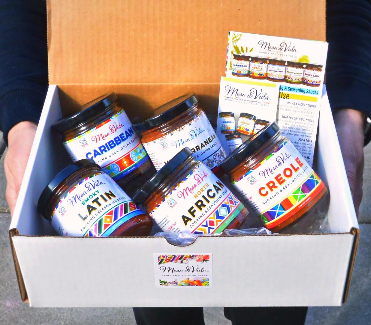 Mesa de Vida 5 Pack Global Gourmet Variety Bundle   Whole30 Approved Cooking Sauce