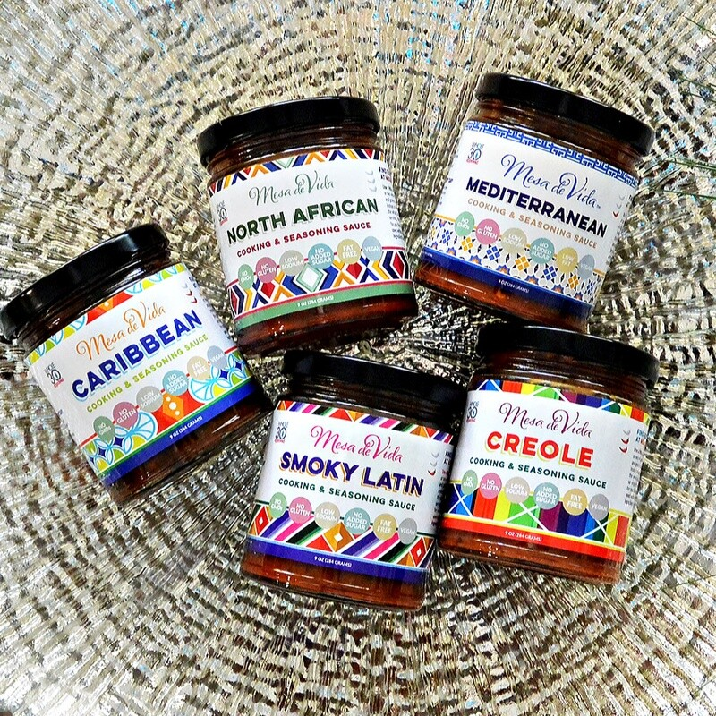 Mesa de Vida 5 Pack Global Gourmet Variety Bundle | Whole30 Approved Cooking Sauce