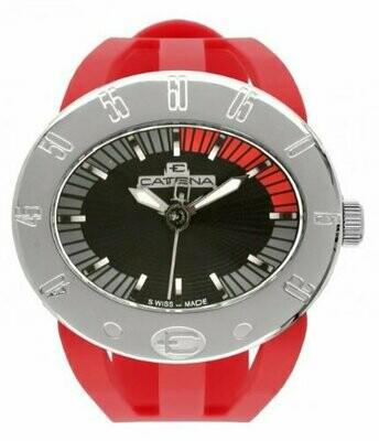 Swisspace S907LNI09 - Orologio da polso da uomo, cinturino in plastica colore rosso