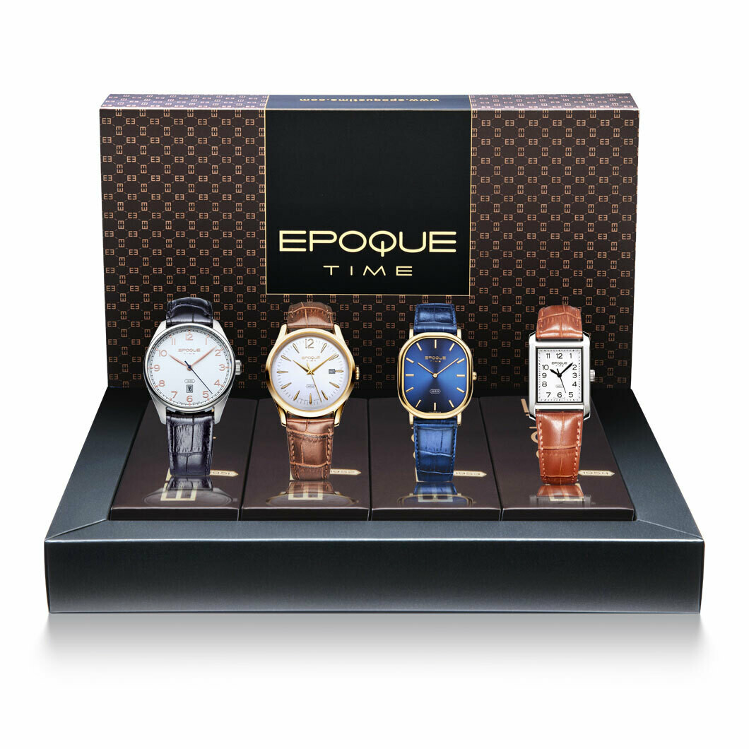Cofanetto Idea Regalo Set di 4 Orologi Vintage