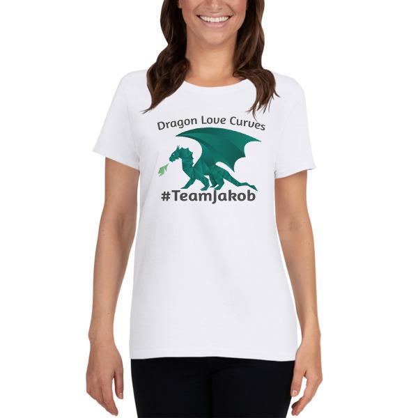 Dragons Love Curves - #TeamJakob Women's short sleeve t-shirt 00006
