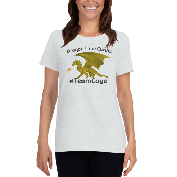 Dragons Love Curves #TeamCage Women's short sleeve t-shirt 00008