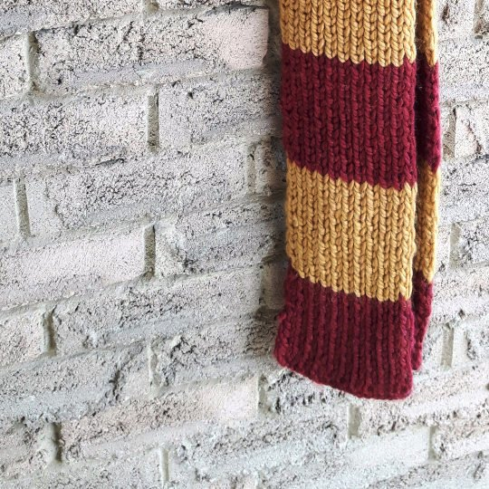 Maroon and Gold Scarf - Harry Potter Scarf
