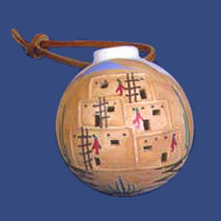 Ball with Leather Hanger
