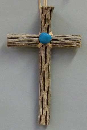 Cactus Cross + Turquoise Stone