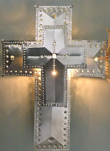3 Dimension Cross Lighted Treetop
