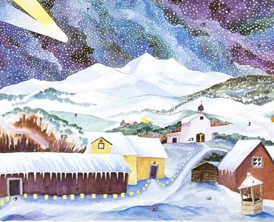 Hispanic Village Advent Calendar