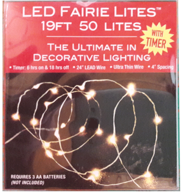 50 Light LED Fairy Lights