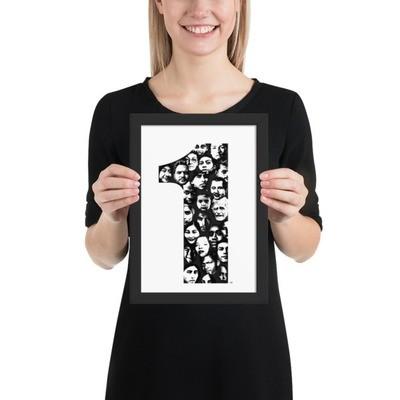 Framed matte paper poster