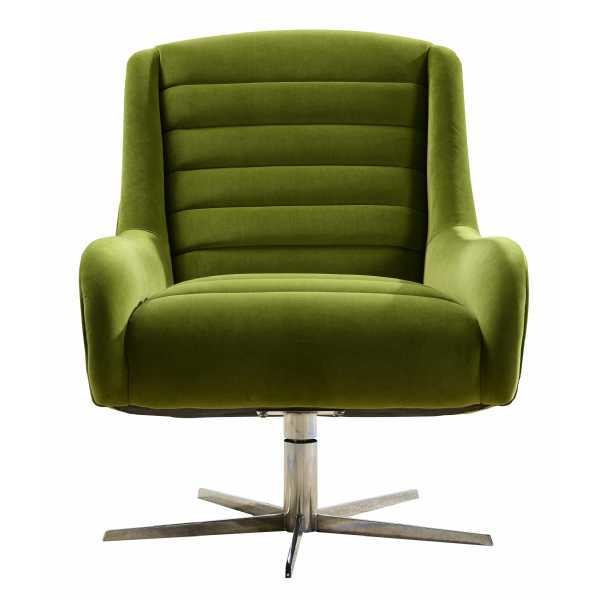 Modern Green Swivel Sofa Chair