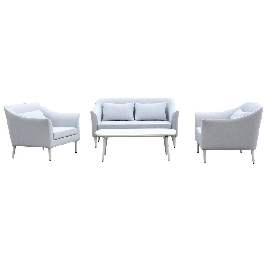 4-Piece Patio Conversation Set with Cushions & Pillow