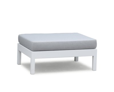 Outdoor Ottomans/Poufs Aluminum with Cushion