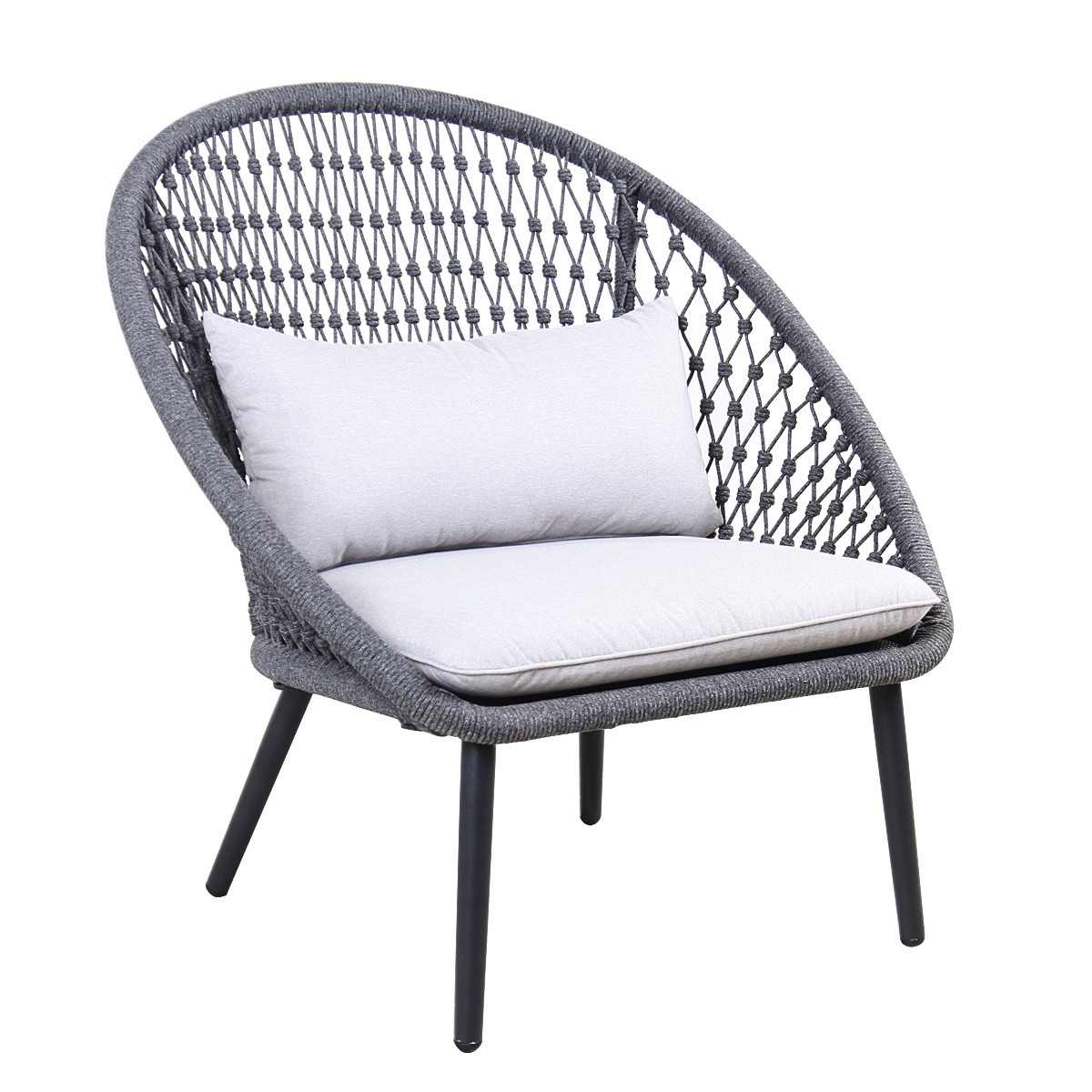 Outdoor Rope Woven Lounge Relaxing Chairs