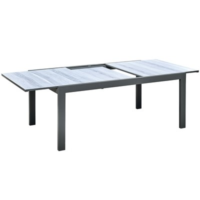 Aluminum frame with extensible Ceramic temper glass top patio outdoor dining table