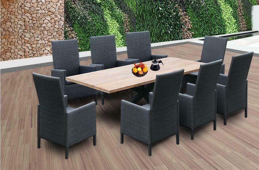 9 Pcs Outdoor Dining Set Modern