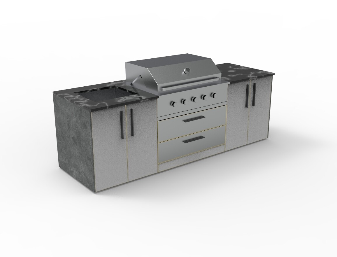 Vanrios Modern Outdoor Kitchen Island KI03