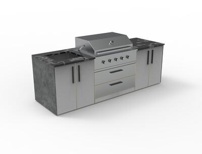 Vanrios Modern Outdoor Kitchen Island KI03