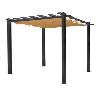 Vanrios Modern Aluminum Outdoor Pergola Shade  Free Standing Retractable Canopy