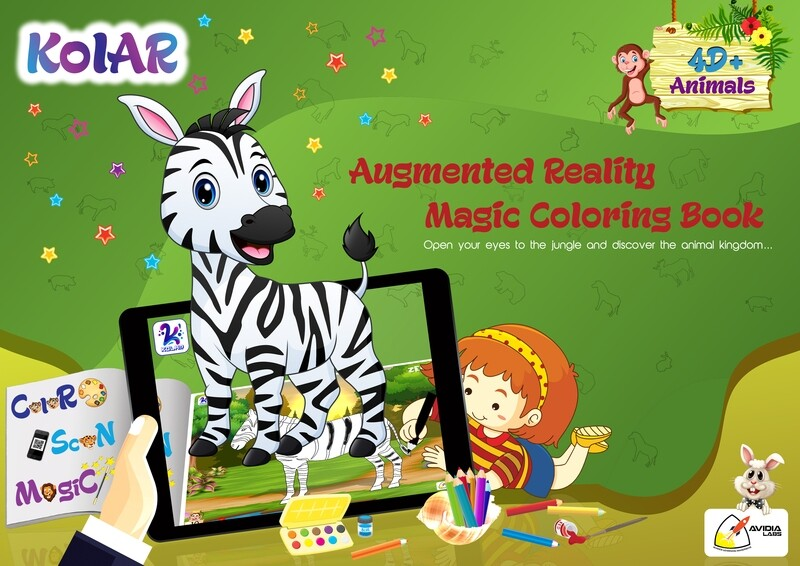 Avidia KolAR - 4D+ Augmented Reality Animals Color Book