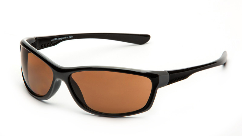 """Очки для активного отдыха """"солнце"""" AS033 черно-серый"""