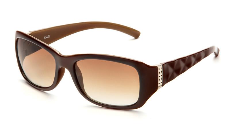 Солнцезащитные очки градиент AS037 коричнево-бежевый
