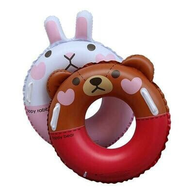 Inflable Happy Bear & Rabbit