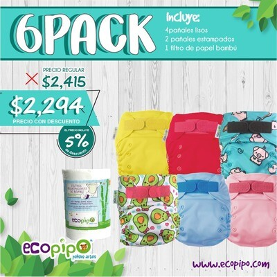 Ecopipo 6 Pack