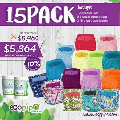 Ecopipo 15 Pack