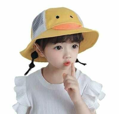 Sombrero Protector Patito con Careta Removible  (Algodón & Mesh)