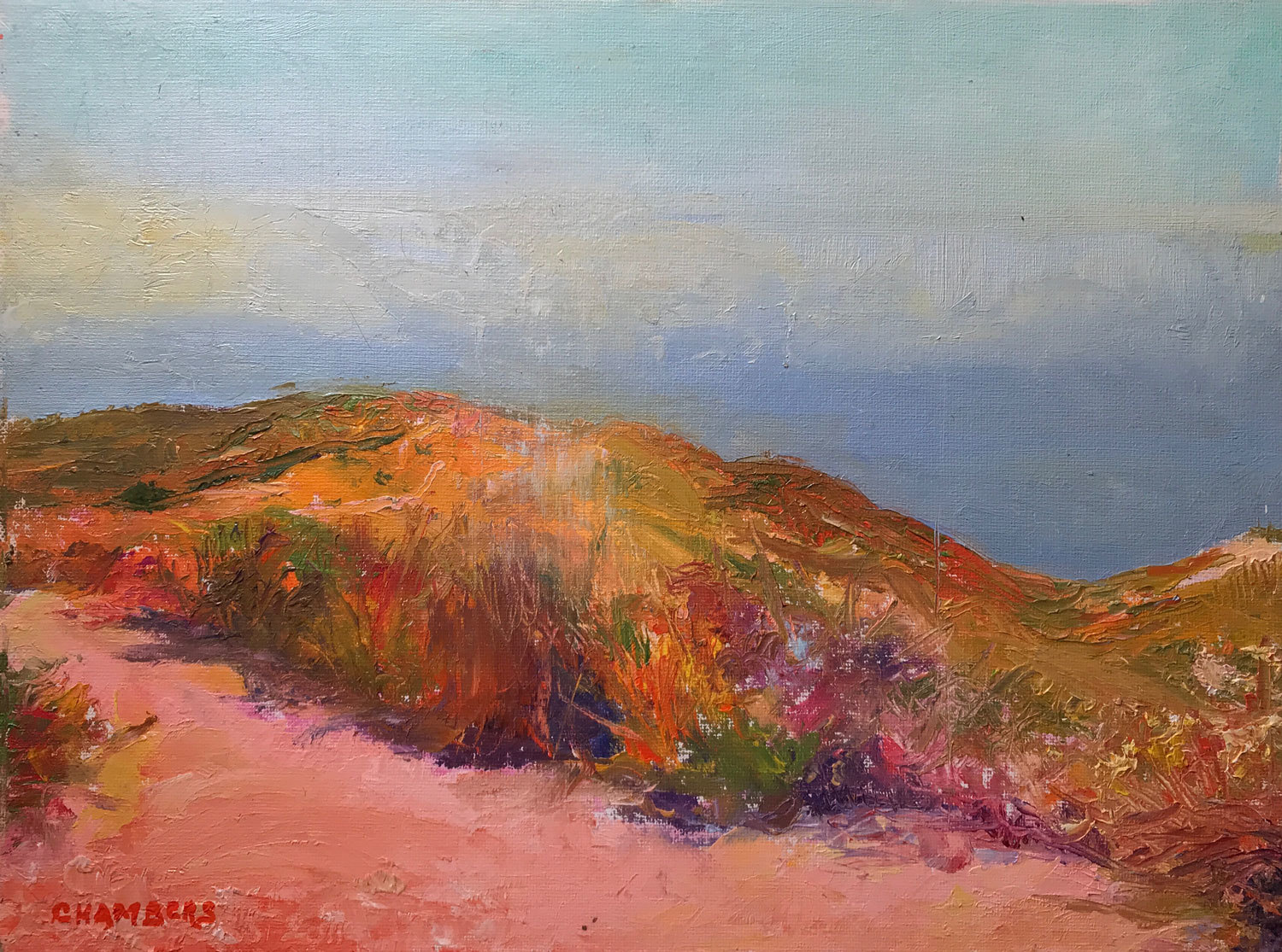"""Late Morning, SoCal, 12x16"""" Oil 102213"""