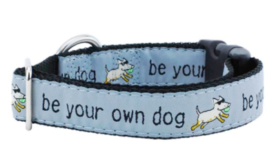 2 HOUNDS CDLG BE YOUR OWN DOG COLLAR LARGE BLUE