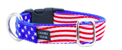 2 HOUNDS STARS AND STRIPES COLLAR MEDIUM