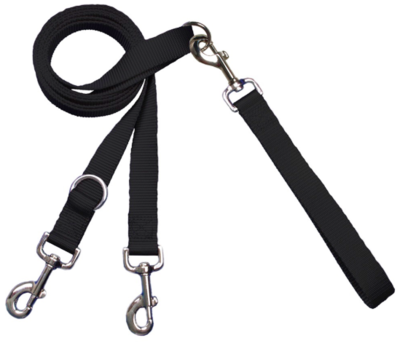 2 HOUNDS MULTI FUNCTION EURO LEASH BLACK