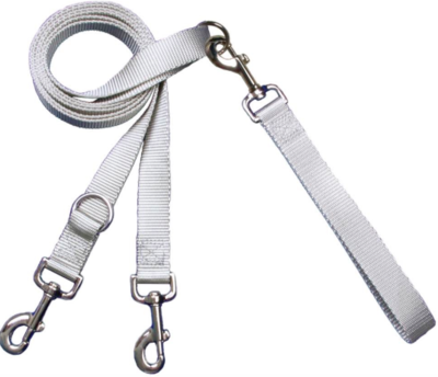 2 HOUNDS MULTI FUNCTION EURO LEASH SILVER
