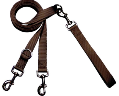 2 HOUNDS MULTI FUNCTION EURO LEASH BROWN