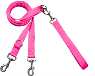 2 HOUNDS MULTI FUNCTION EURO LEASH HOT PINK