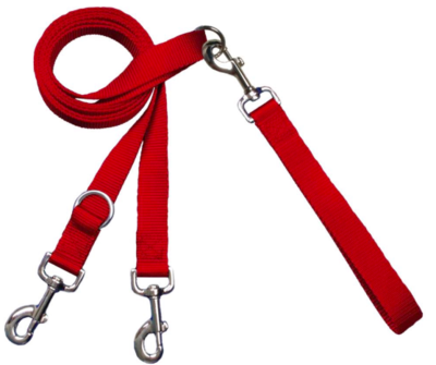 2 HOUNDS MULTI FUNCTION EURO LEASH RED