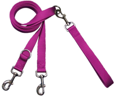 2 HOUNDS MULTI FUNCTION EURO LEASH ROSE