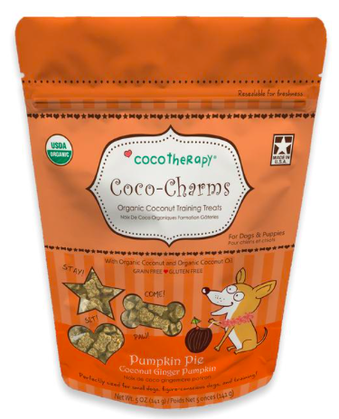 COCO THERAPY COCO CHARMS TRAINING TREATS PUMPKIN PIE 5oz