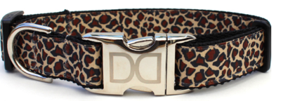 Diva Dog Leaping Leopard Collar X/l